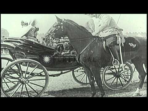 Kaiser William II and the Archduke Ferdinand of Austria in Germany. HD Stock Footage