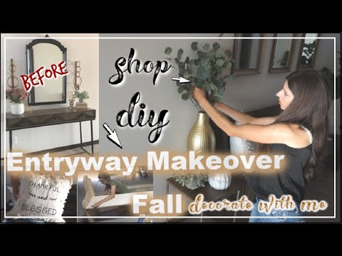 Entryway Makeover | DIY & Decorate With Me | Fall Decorate With Me