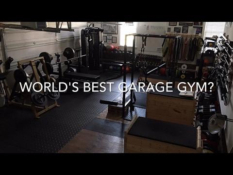 Garage gym update dumbbell rack dehumidifier smith machine body