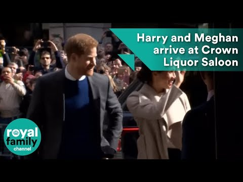 Prince Harry and Meghan Markle arrive at Crown Liquor Saloon, Belfast
