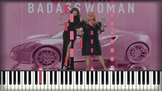 Meghan Trainor - Badass Woman | Piano Cover | Instrumental Karaoke