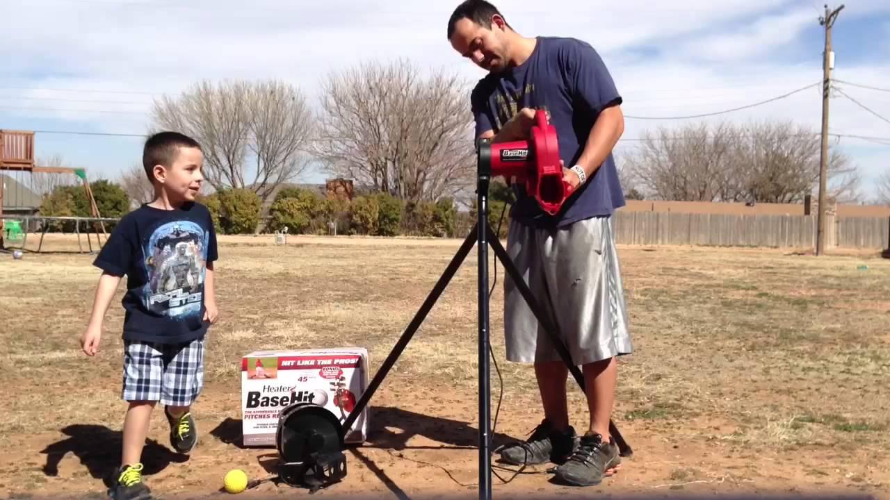 heater basehit pitching machine setup assembly youtube