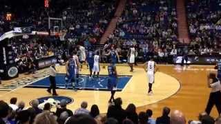 Timberwolves vs Grizzlies at Target Center in Minneapolis. Ricky Rubio shinning!