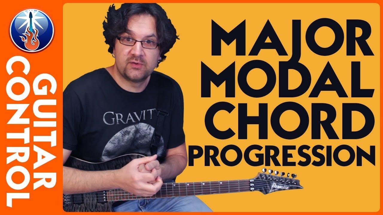 How To Use Major Modal Chord Progressions Rhythm Guitar Lesson On