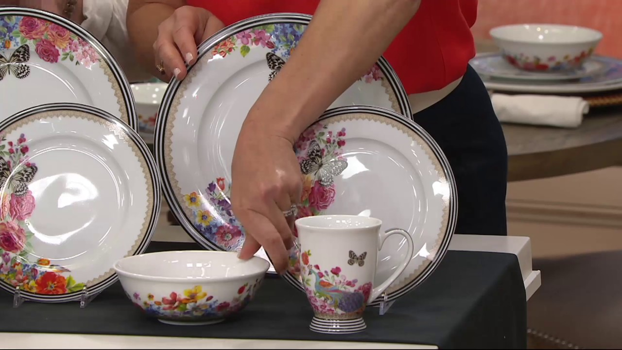 Lenox Melli Mello Porcelain 16pc Dinnerware Set on QVC & Lenox Melli Mello Porcelain 16pc Dinnerware Set on QVC - YouTube