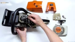 Échanger le rotor / volant magnétique sur une tronçonneuse Stihl