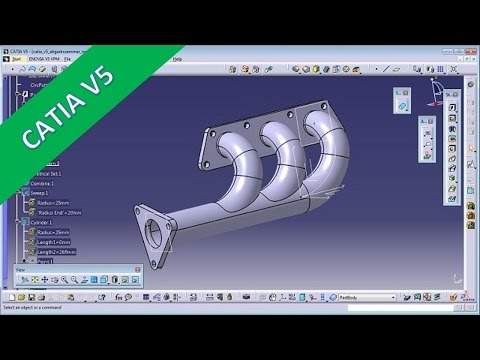 Abgaskruemmer - Catia v5 Training - Sweep with Law