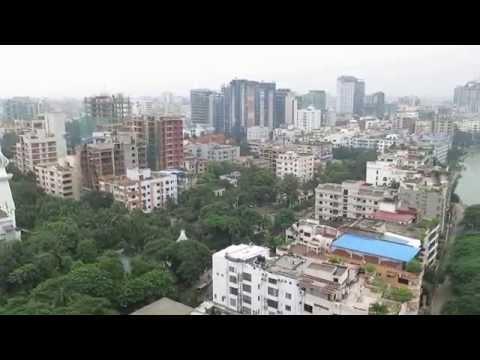 Panorama of Gulshan, a suburb of Dhaka