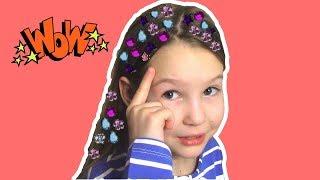 Прическа из камней / Драгоценные камни для волос / BEAUTY обзор для девочек