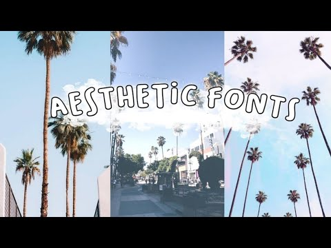 50 Aesthetic Font For Editing | Dafont.com