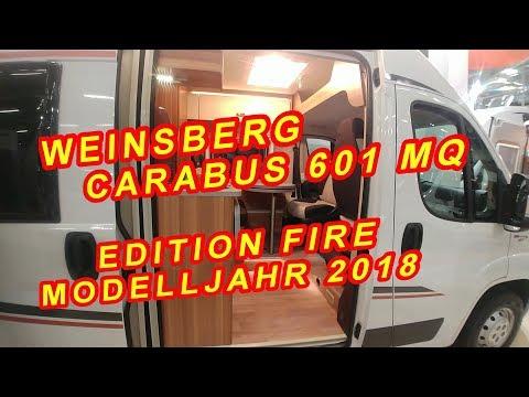 WEINSBERG CARABUS 601 MQ Edition Fire, MODELLJAHR 2018, KASTENWAGEN, SUISSE CARAVAN SALON
