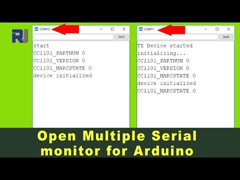 How to open multiple Serial Monitor for Arduino - YouTube