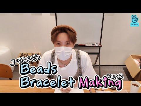 (ENG sub) [VLIVE] BTS - J-HOPE making beads bracelet
