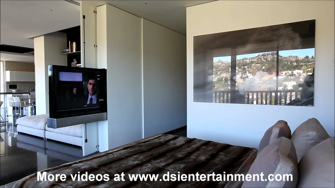 Motorized TV appears out of a wallsideways  YouTube
