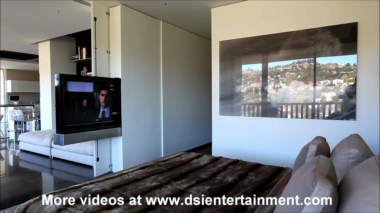 Motorized TV appears out of a wallsideways YouTube