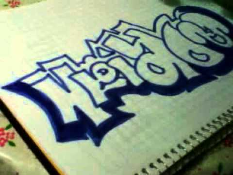 como hacer un graffiti de adrian y juan  YouTube