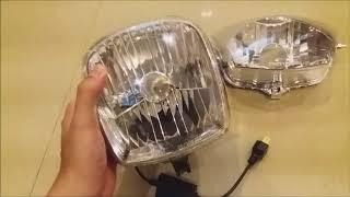 Bi-LED mini H4 (AES) lắp đặt và test ánh sáng Video