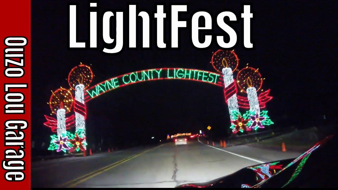 Hines Drive Christmas Lights 2021 Wayne County Lightfest Hines Park Westland Michigan 2018 Youtube