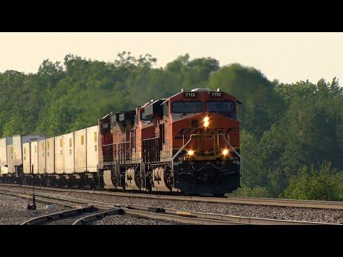BNSF Intermodal At Lincoln, MN.