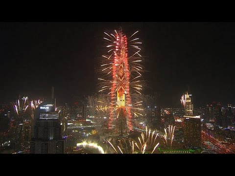 Dubai's New Year's Eve fireworks welcoming 2017