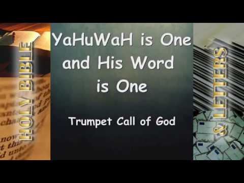 THE BIBLE & THE LETTERS ARE ONE ONGOING TESTAMENT - YaHuWaH is ONE and His  WORD is ONE