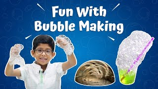 Bubble Making At Home - Bubble Inside a Bubble. Cool Science Experiment For Kids.
