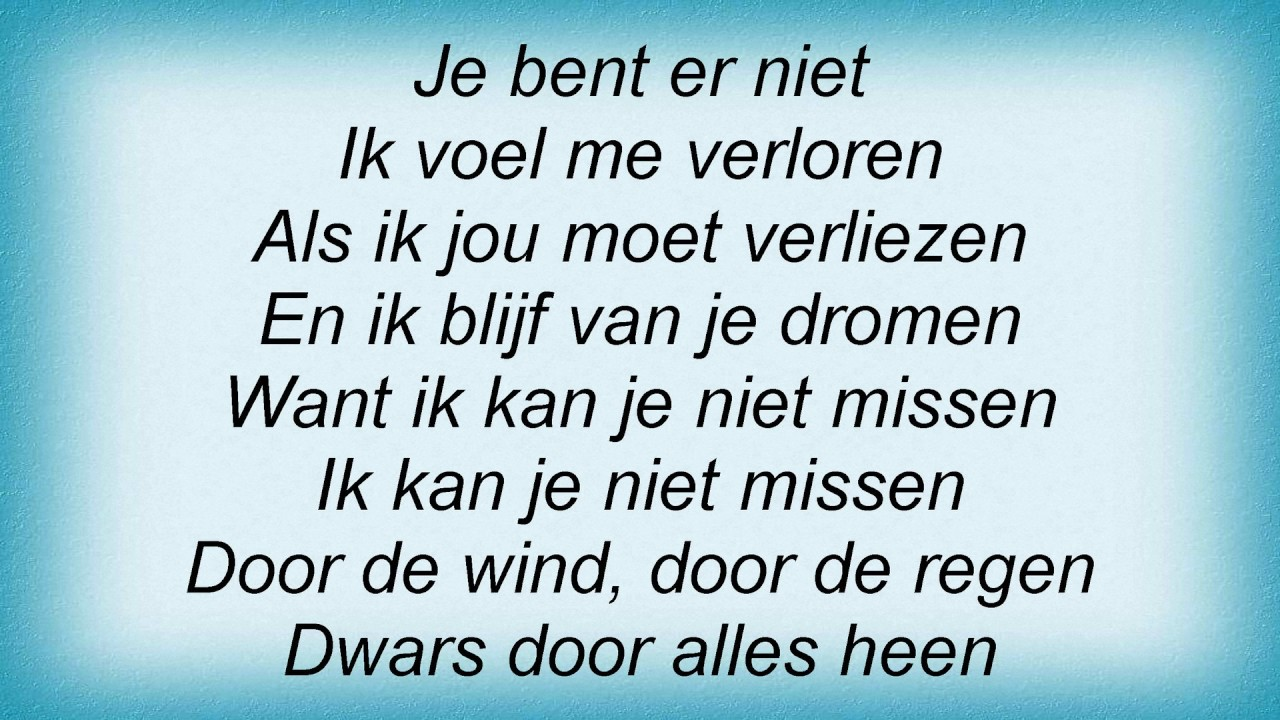 Stef Bos Is Dit Nou Later Lyrics Chords Chordify