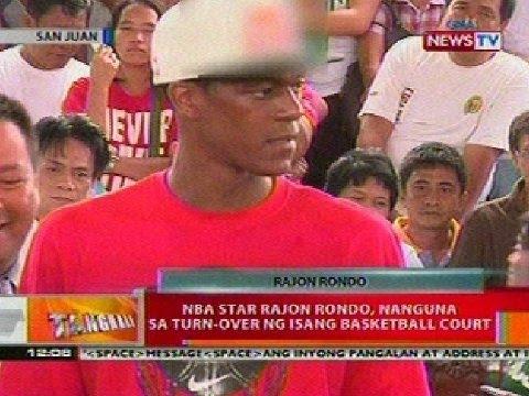 BT: NBA star Rajon Rondo, nanguna sa turn-over ng isang basketball court sa San Juan