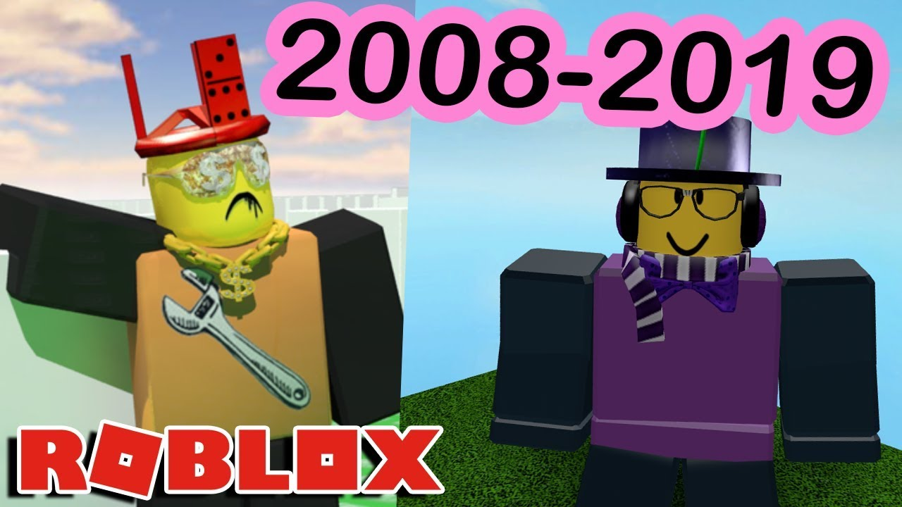 Old Roblox 2019 My 11 Year Roblox Avatar Evolution 2008 2019 Youtube