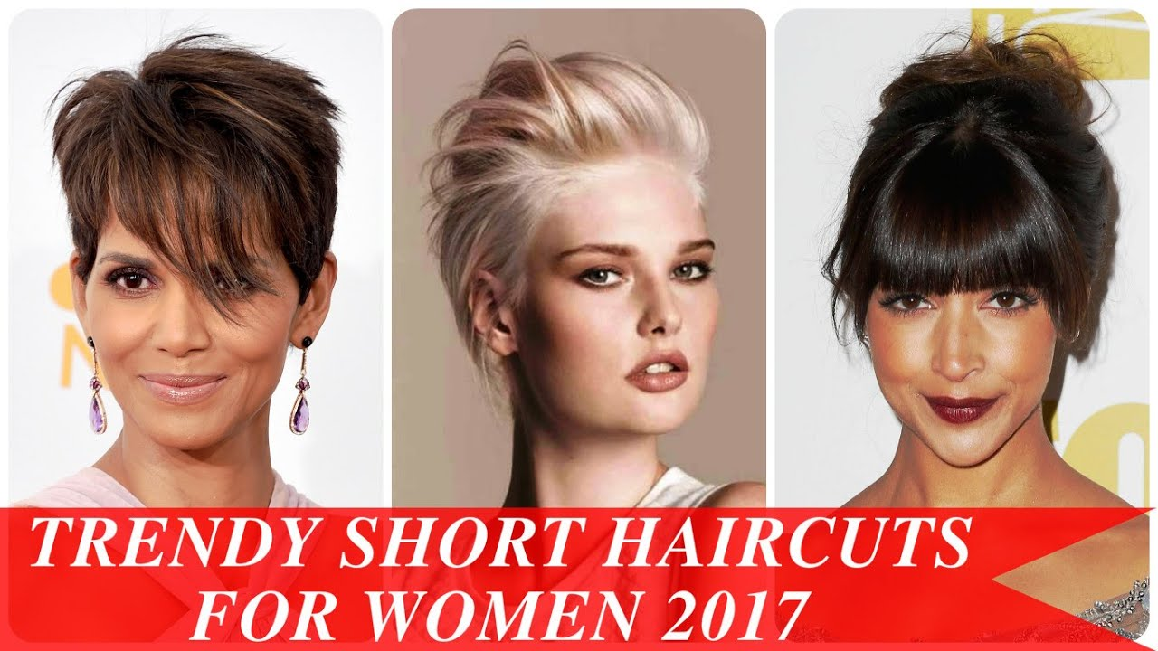 Trendy short haircuts for women 2017 youtube urmus Image collections