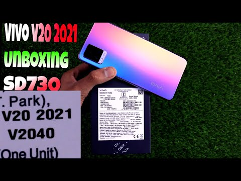 Vivo V20 2021 Unboxing & First Impression, SD730, 64Mp, 44Mp Front Camera