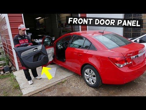 CHEVROLET CRUZE FRONT DOOR PANEL REMOVAL REPLACEMENT. FRONT DOOR PANEL CHEVY CRUZE