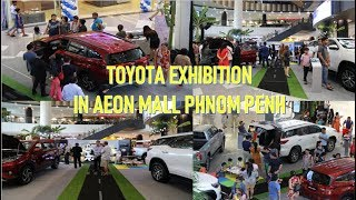The views of Toyota Exhibition Cars in Aeon mall in phnom Penh Cambodia,