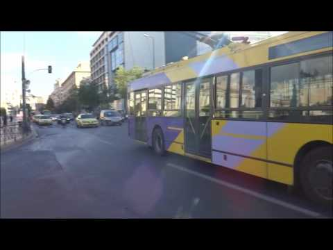 Athens Bus: Bus-Spotting in center streets (Akadimias and Panepistimiou)
