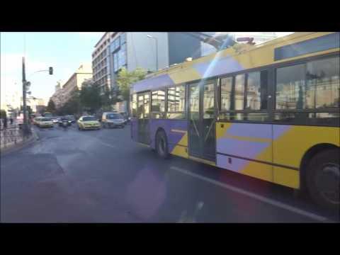Athens Bus: Bus-Spotting in center streets (Akadimias and Panepistimiou)
