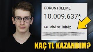 BEKLENEN VİDEO! 10 MİLYON İZLENMEYE KAÇ TL KAZANDIM? 💰 (Youtube Para Kazanma)