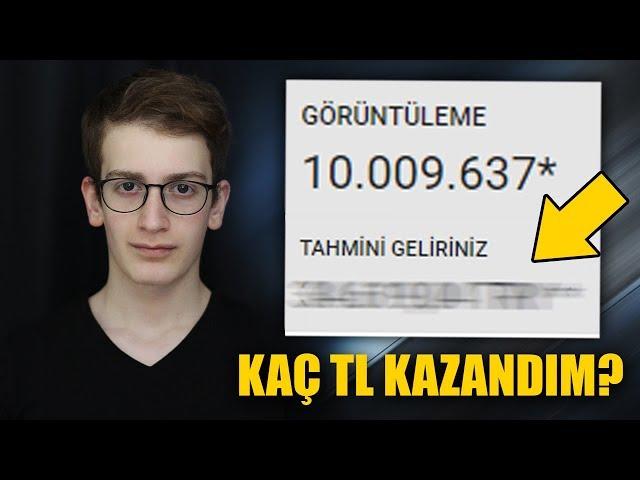 BEKLENEN VİDEO! 10 MİLYON İZLENMEYE KAÇ TL KAZANDIM? (Youtube Para Kazanma)
