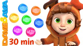 🌈  Learn Colors & Numbers | Baby Songs & Nursery Rhymes by Dave and Ava 🌈