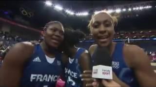 jo 2012 france les basketteuses chantent du cline dion aprs la demi finale