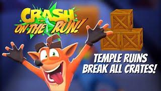 Crash Bandicoot: On the Run - Temple Ruins | Break All Crates Challenge! screenshot 5