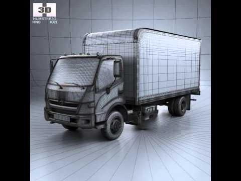Hino 195 Hybrid Box Truck 2017 Model From Cgtrader