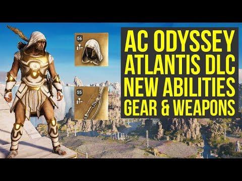 Assassin S Creed Odyssey Atlantis Dlc All New Abilities Legendary Gear Weapons Ac Odyssey Dlc Youtube