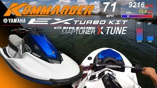 Kommander Yamaha EX Turbo Kit 71mph with Riva Maptuner X Tune Testing