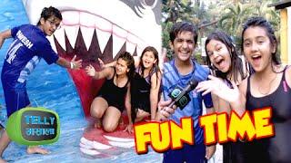 video roshni walia saloni bhavesh have fun at water kingdom