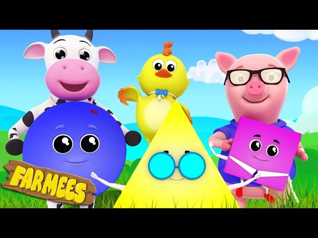 Shapes Song | Kindergarten Learning Videos for Kids | Nursery Rhymes by Farmees