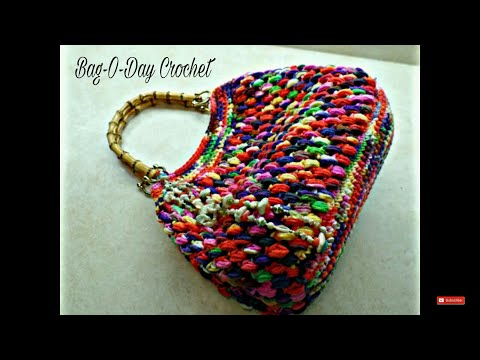CROCHET How to #Crochet Puff Bean Stitch Handbag Purse #TUTORIAL #271 supersaver