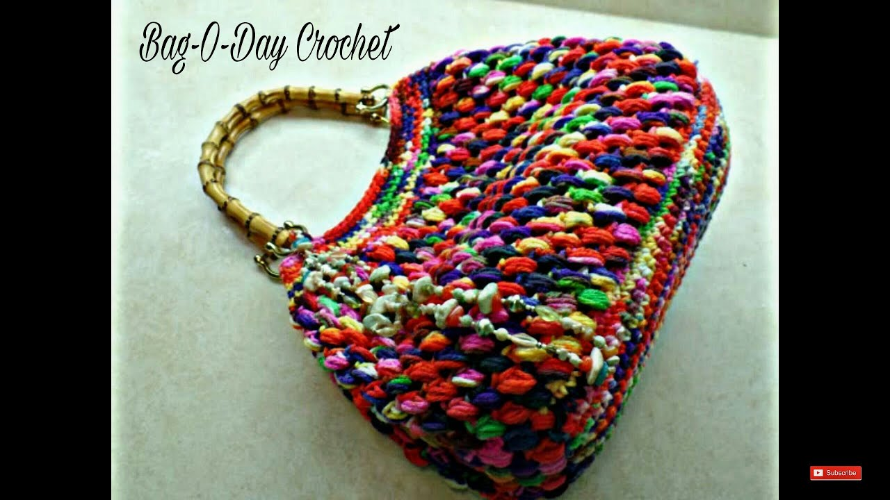 CROCHET How to #Crochet Puff Bean Stitch Handbag Purse #TUTORIAL #271 ...