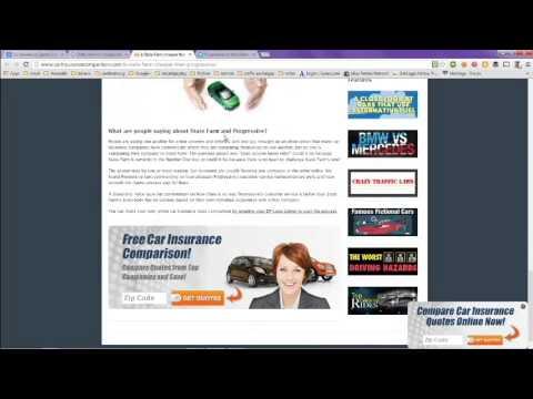Car Insurance Quotes Compared Online - Progressive Vs State Farm