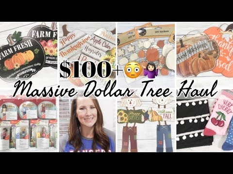 DOLLAR TREE HAUL  | NEW DOLLAR STORE FINDS | FALL 2019 DOLLAR STORE  HAUL