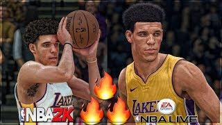 BIG BALLER BRAND!!! NBA 2k18 VS NBA Live 18! ITS NOT REAL EVEN CLOSE FAM